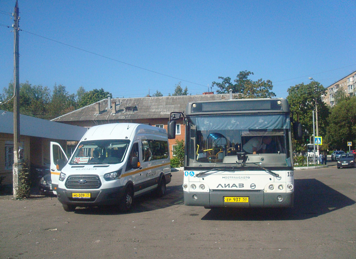 Ступино. ЛиАЗ-5292.60 ер937, Ford Transit FBD но039