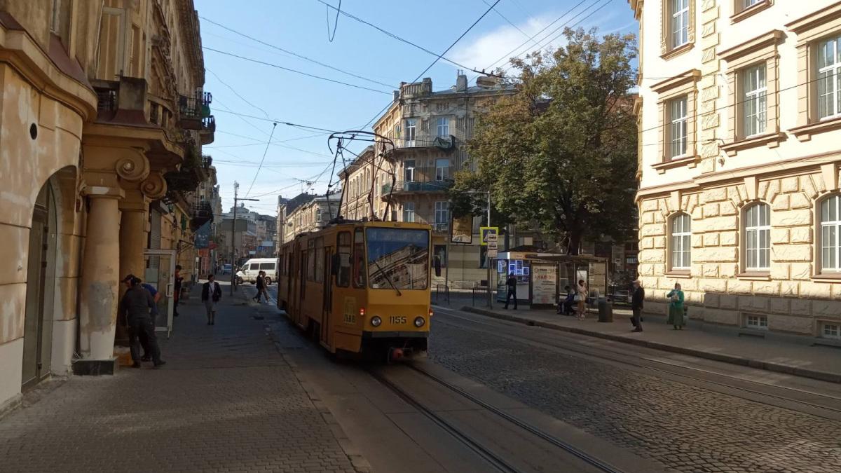 Львов. Tatra KT4D №1155