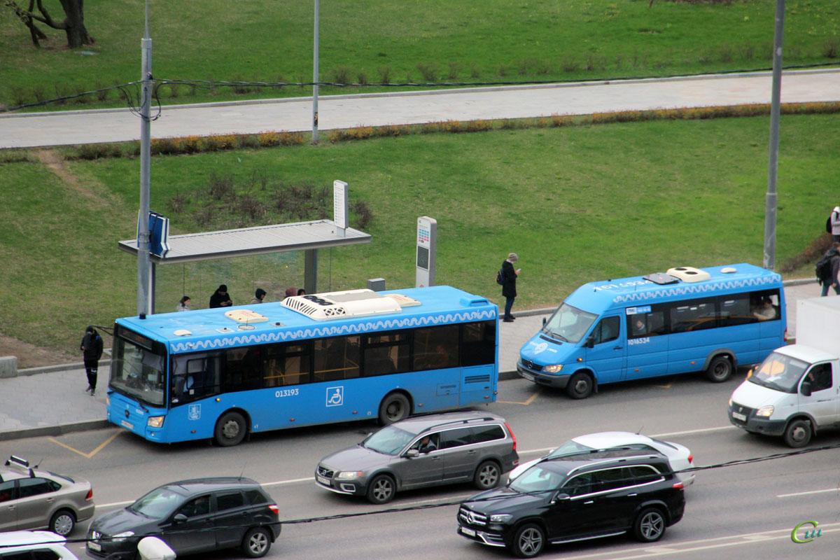 Москва. Луидор-223206 (Mercedes-Benz Sprinter) а842тн, ЛиАЗ-4292.60 р799уо