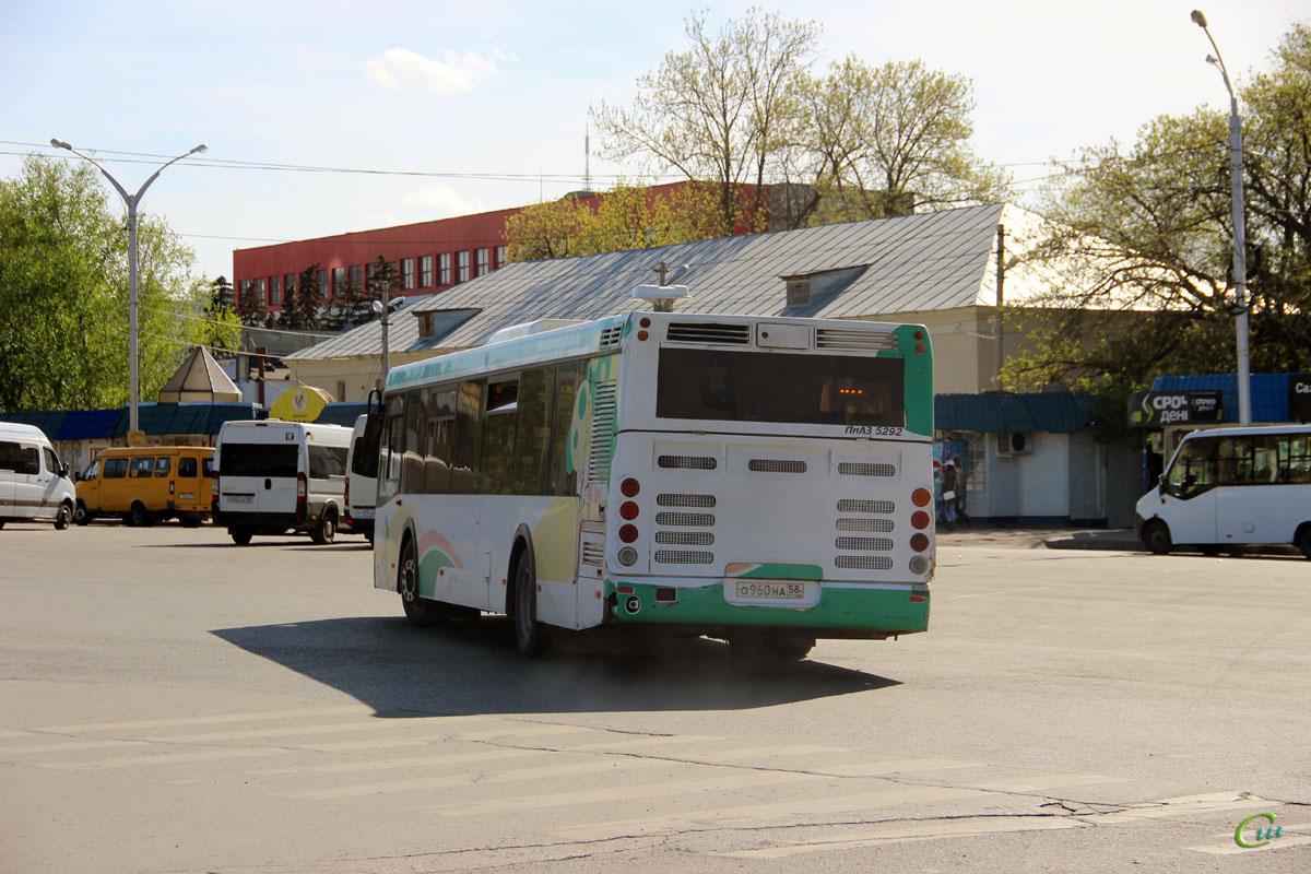 Пенза. Нижегородец-2227 (Citroёn Jumper) о992ах, ЛиАЗ-5292.22 о960на