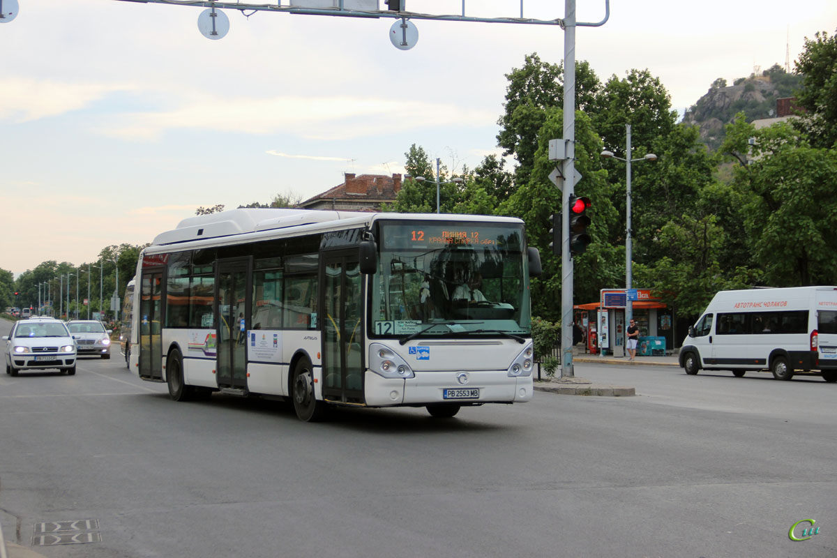 Пловдив. Irisbus Citelis 12M CNG PB 2553 MB, Citroёn Jumper PB 6829 PT