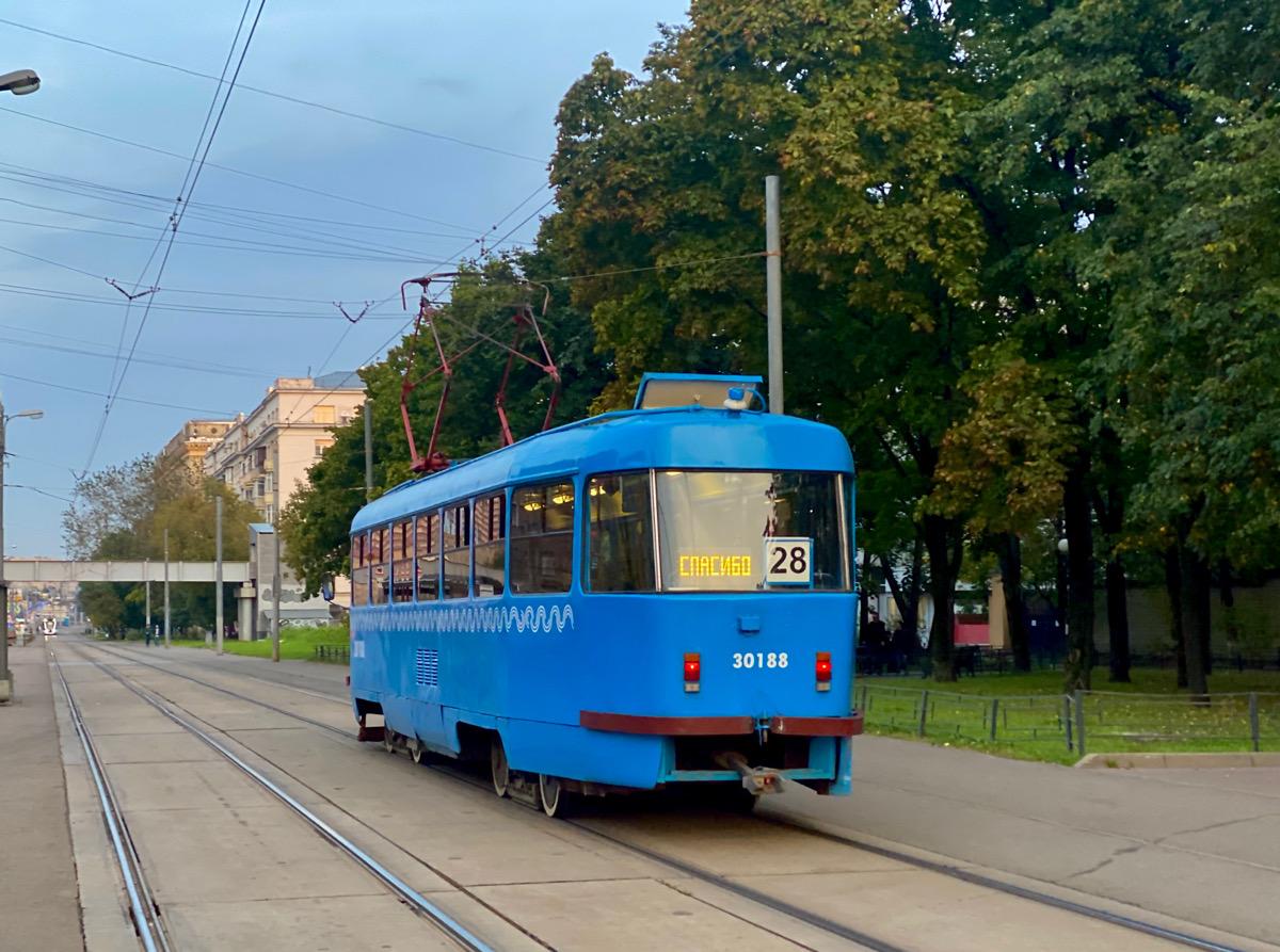 Москва. Tatra T3 (МТТЧ) №30188