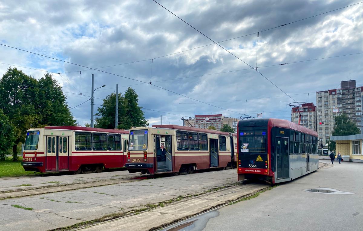 Санкт-Петербург. ЛМ-68М3 №3514, ЛВС-86К №3476, ЛВС-86М2 №3013