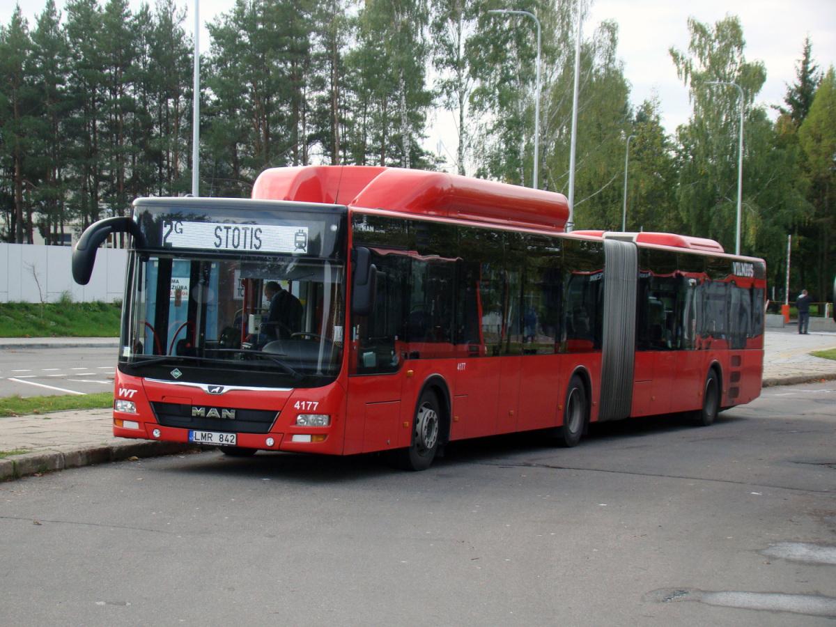 Вильнюс. MAN A23 Lion's City NG313 CNG LMR 842