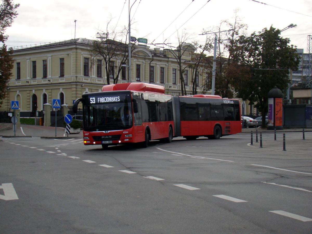 Вильнюс. MAN A23 Lion's City NG313 CNG LNI 962