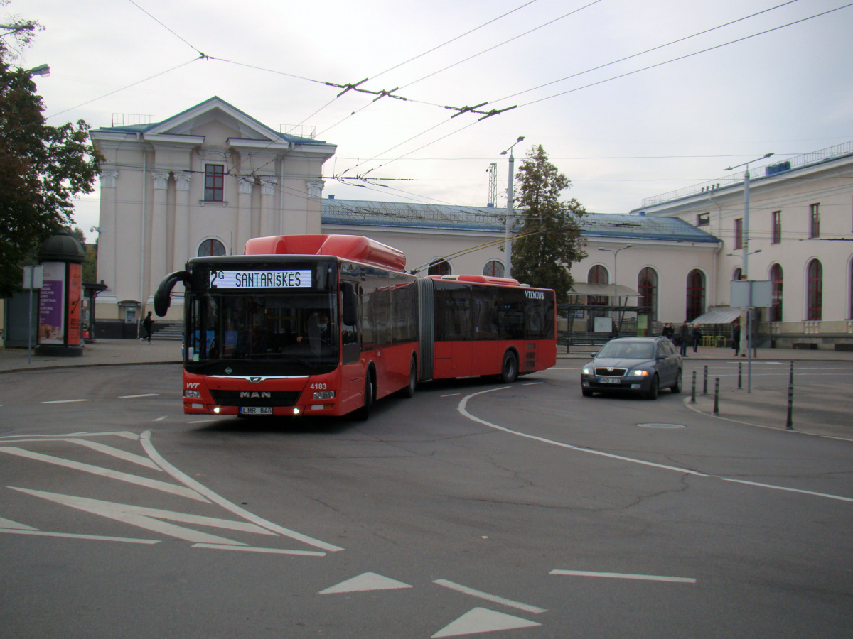 Вильнюс. MAN A23 Lion's City NG313 CNG LMR 846