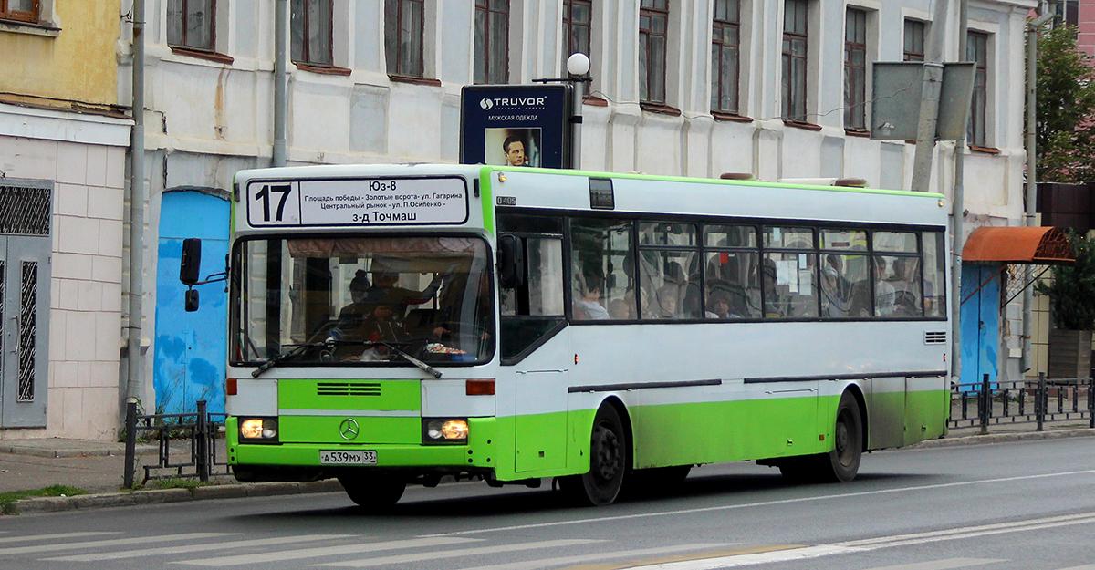 Владимир. Mercedes-Benz O405 а539мх