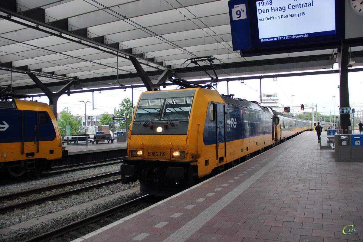 Роттердам. Bombardier Traxx F140 MS2 № 186 119