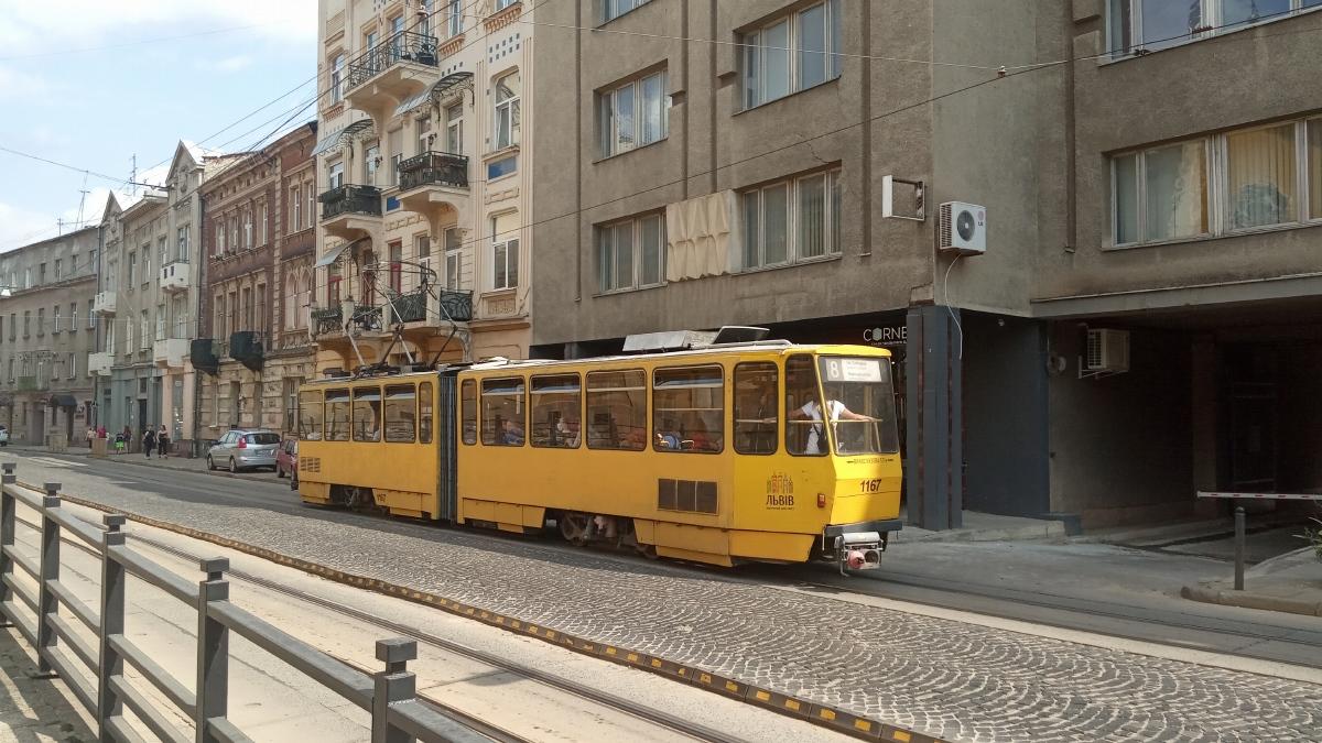 Львов. Tatra KT4D №1167