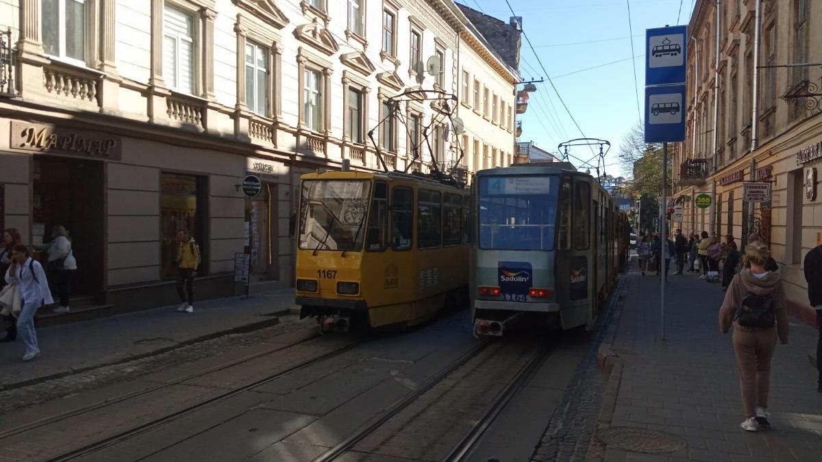 Львов. Tatra KT4D №1164, Tatra KT4D №1167