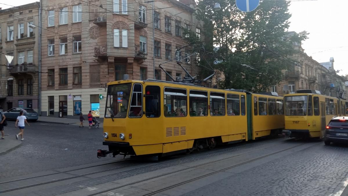 Львов. Tatra KT4D №1154