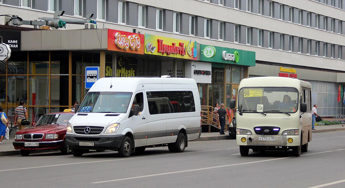 Иркутск. Луидор-2236 (Mercedes-Benz Sprinter) в465вм, Hyundai County SWB е273ск
