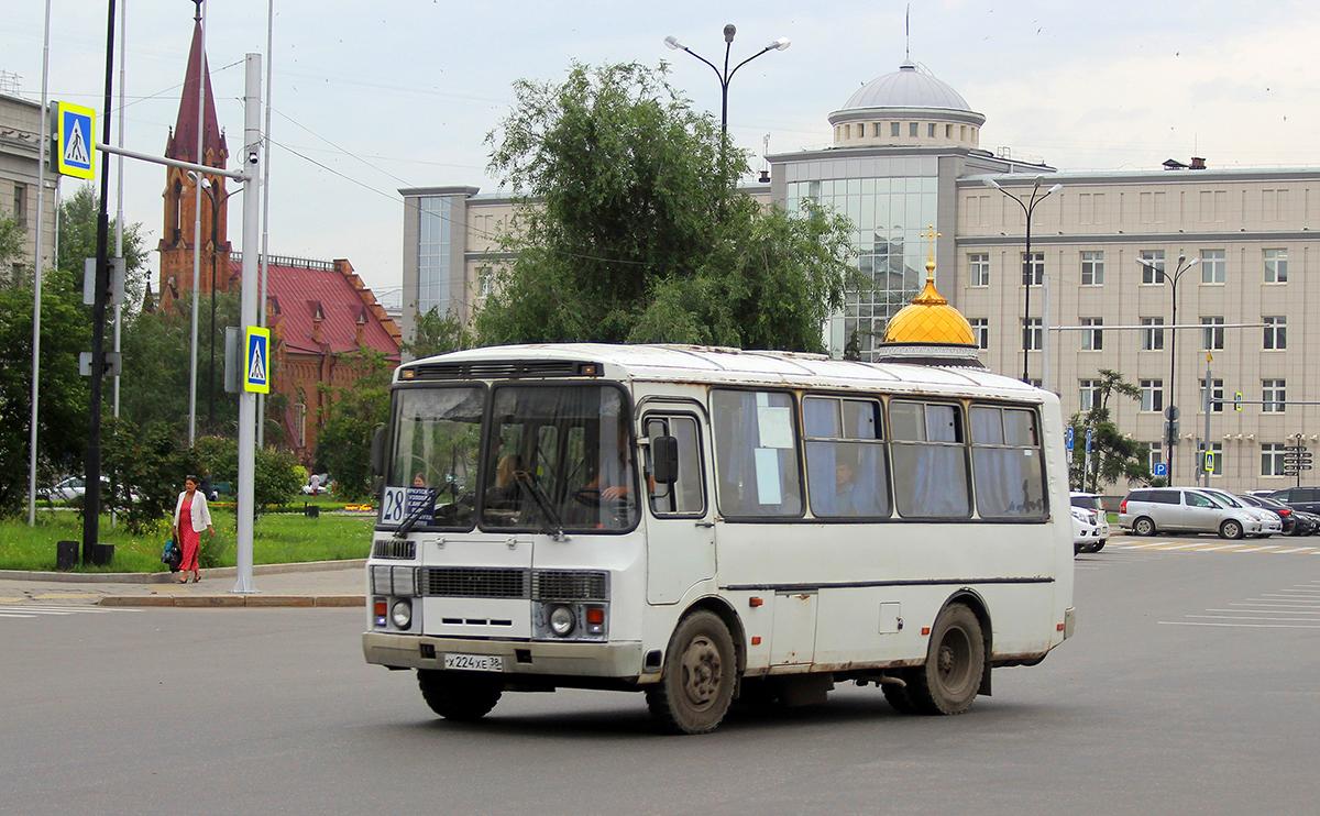 Иркутск. ПАЗ-32054 х224хе