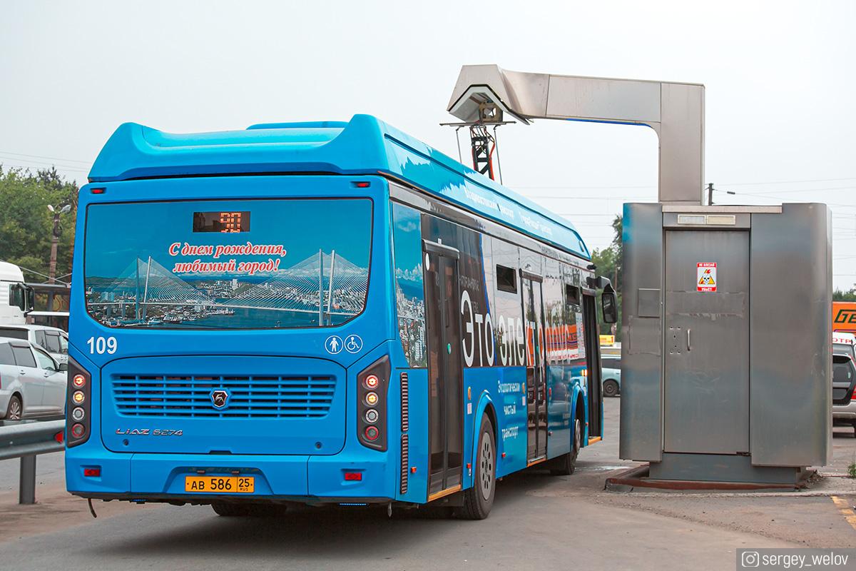 Владивосток. ЛиАЗ-6274 ав586