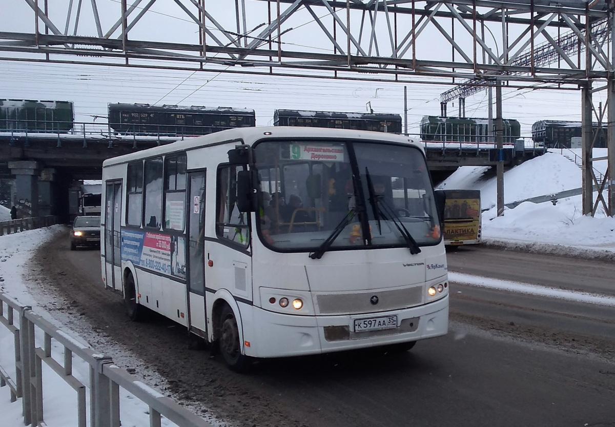 Вологда. ПАЗ-320414-04 Вектор к597аа